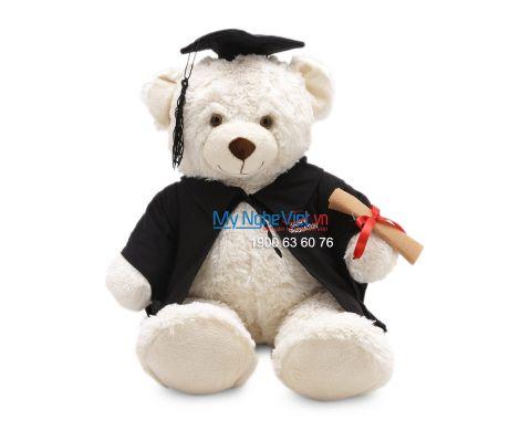 Gấu tốt nghiệp QTN10/1 áo đen