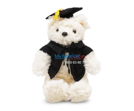 Gấu tốt nghiệp QTN10/4 Vest đen