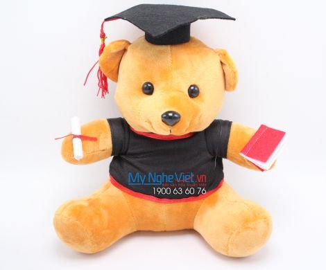 Gấu nâu tốt nghiệp - 35 cm MNV-GTN04