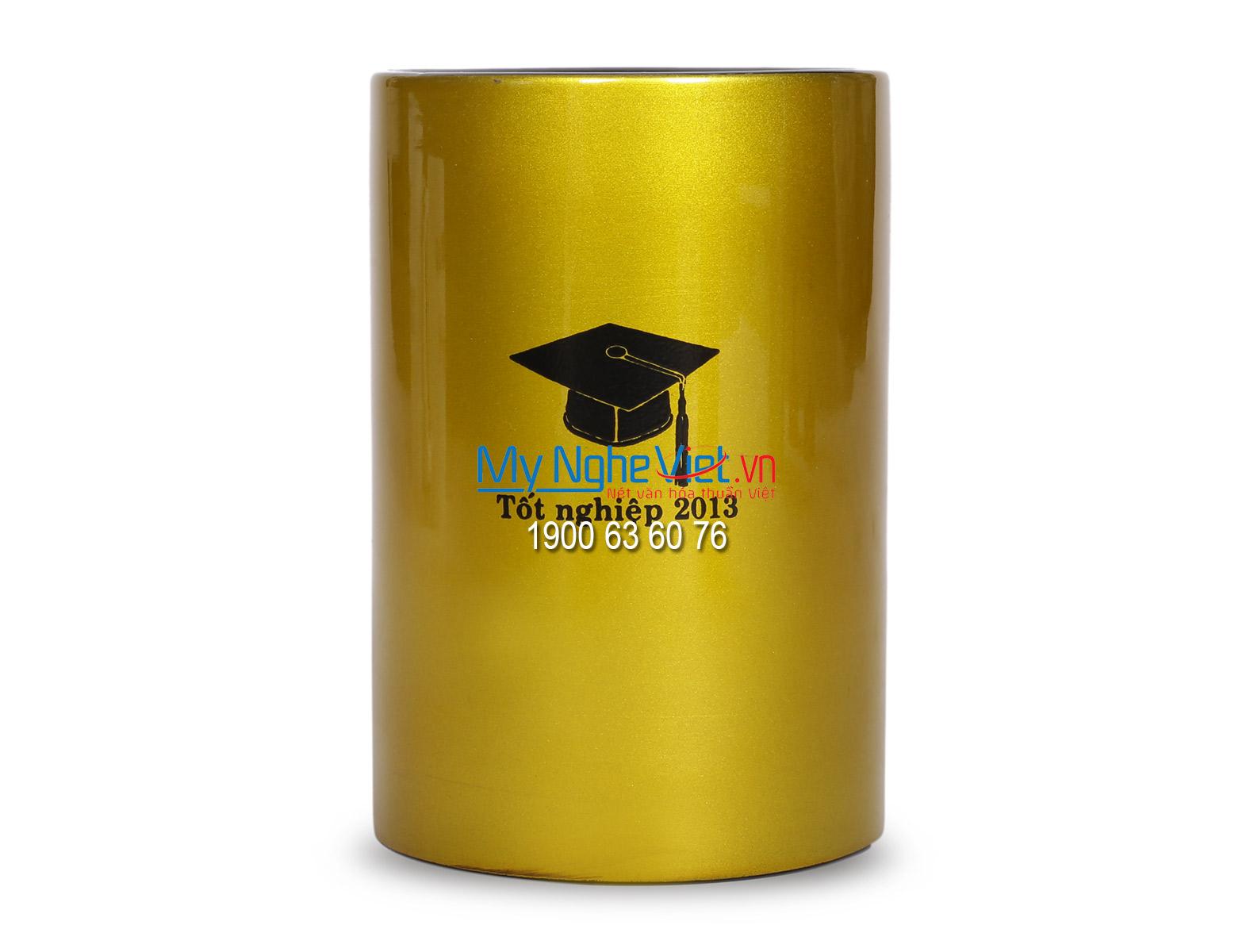 Hộp cắm bút sơn mài tốt nghiệp QTN33