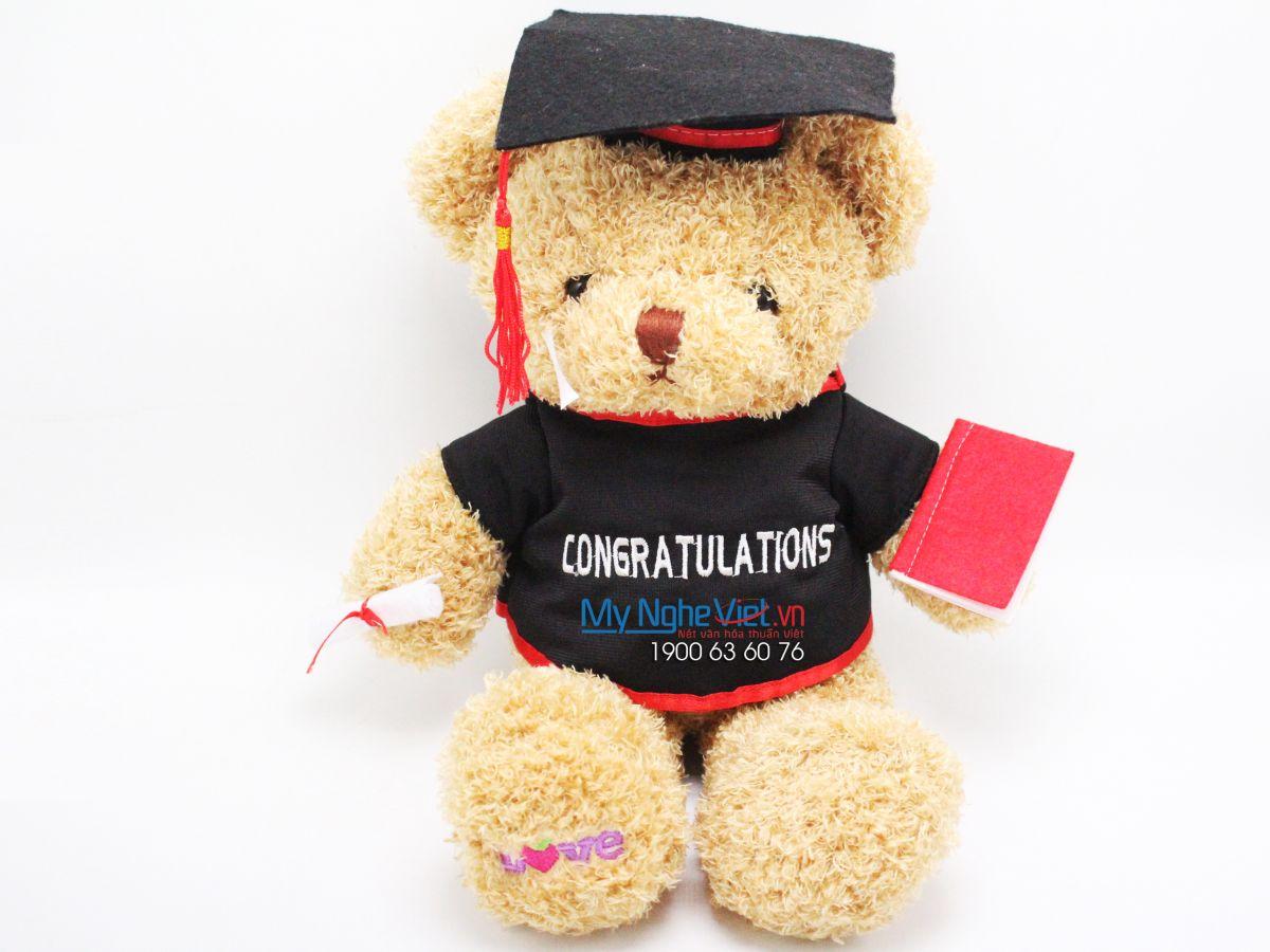 Gấu Teddy Melody be tốt nghiệp - 50cm MNV-GTN01