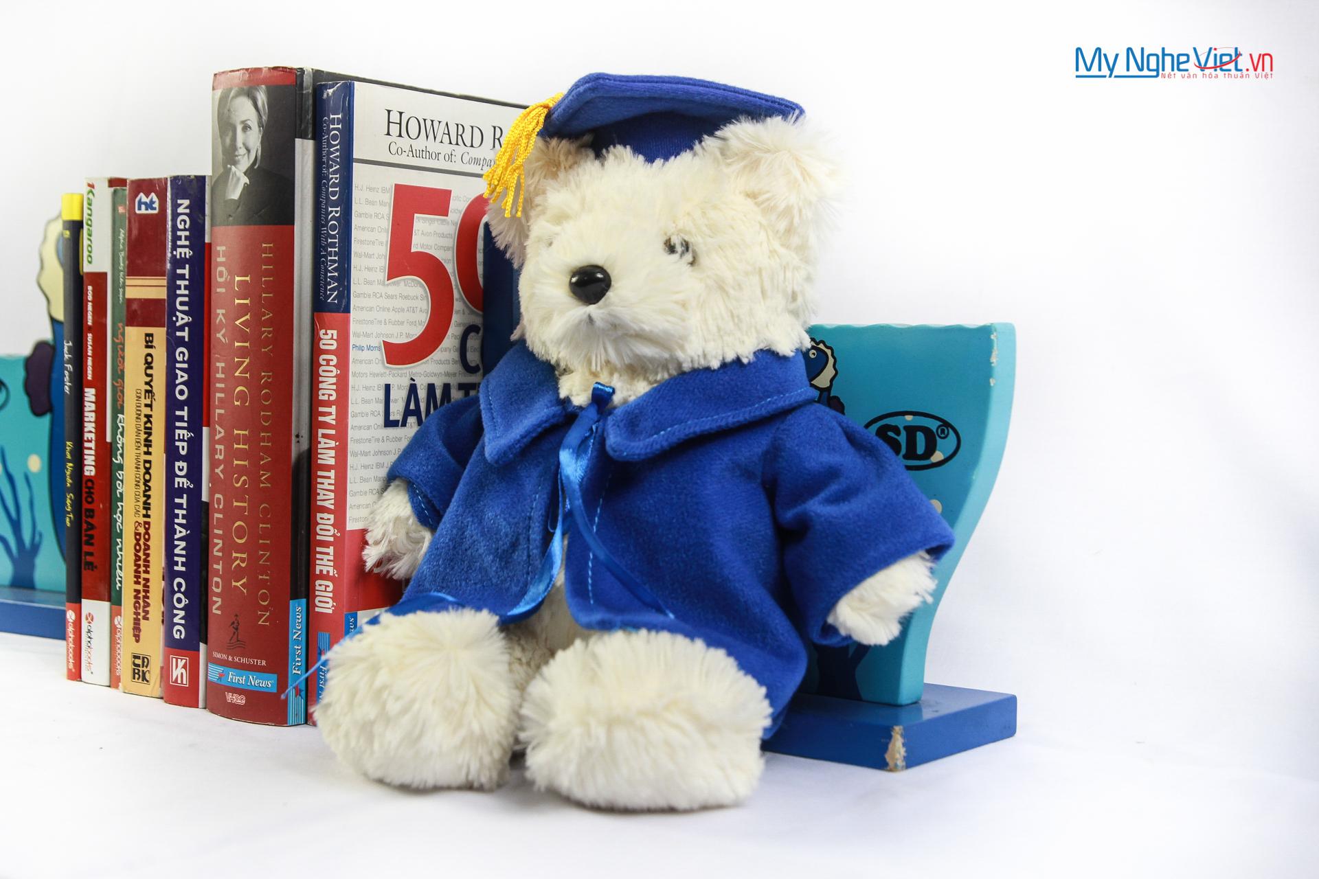 Gấu tốt nghiệp QTN10/4 Vest xanh