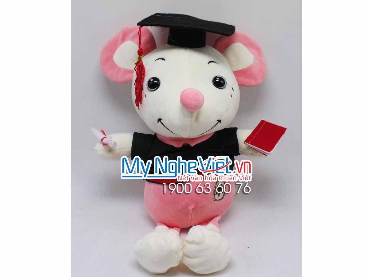 Gấu Chuột Yếm Sọc Tốt Nghiệp MNV-GTN07