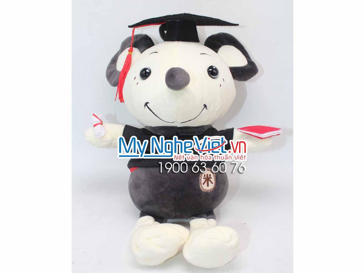 Gấu Chuột Yếm Sọc XámTốt Nghiệp MNV-GTN07-1