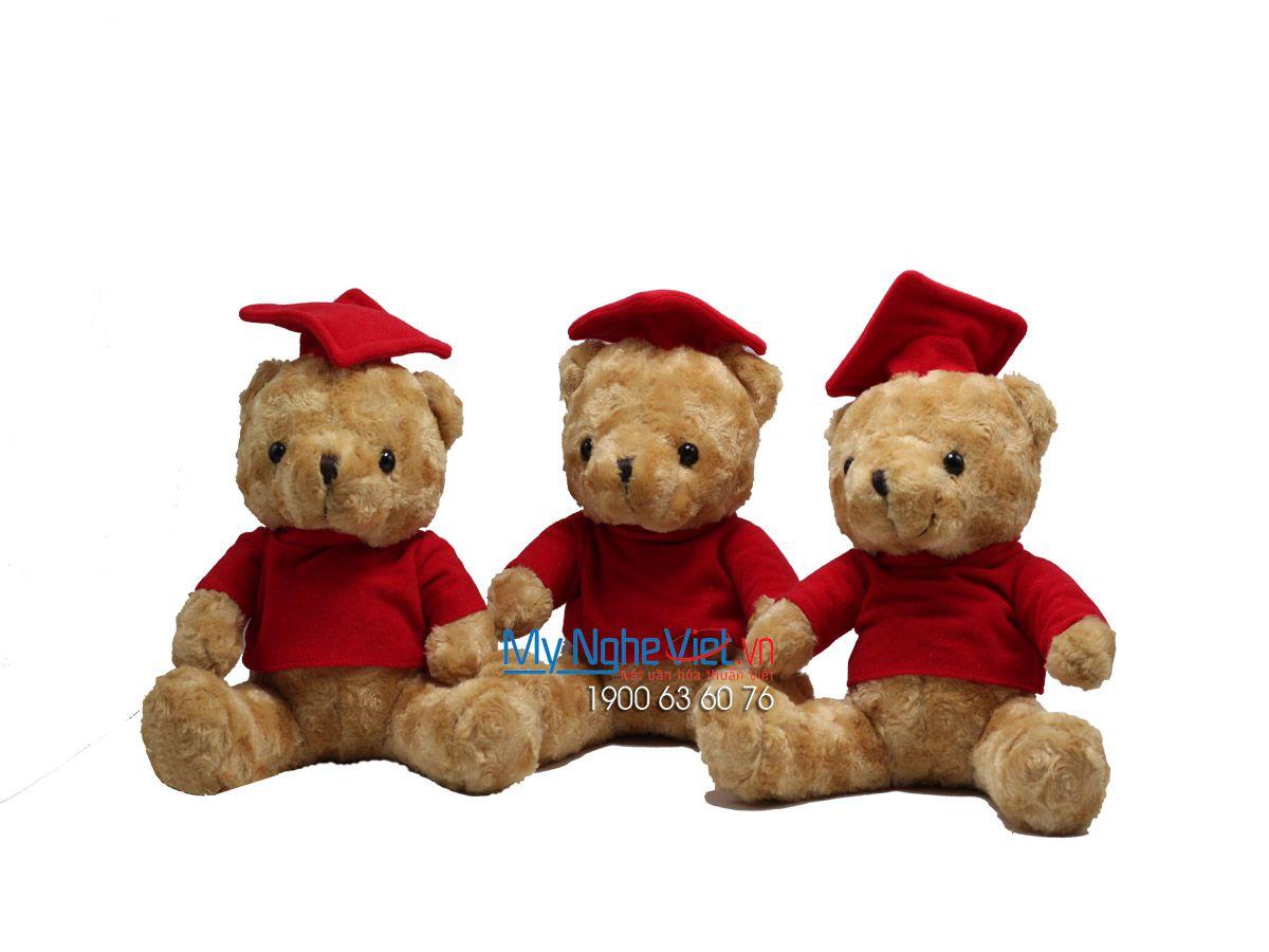 Gấu tốt nghiệp nâu mũ đỏ MNV-GTN12