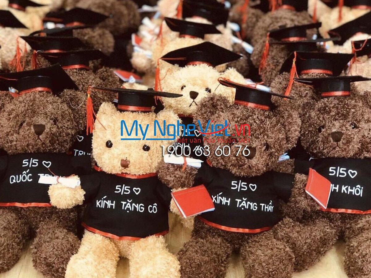 Gấu Teddy Melody socola tốt nghiệp MNV-GTN02 (HÀNG HỢP ĐỒNG)
