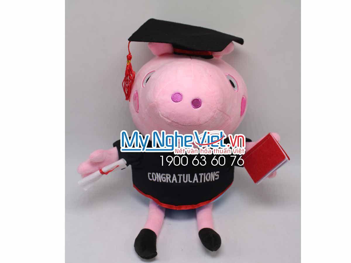 Gấu Heo Peppa Tốt Nghiệp MNV-GTN09-1
