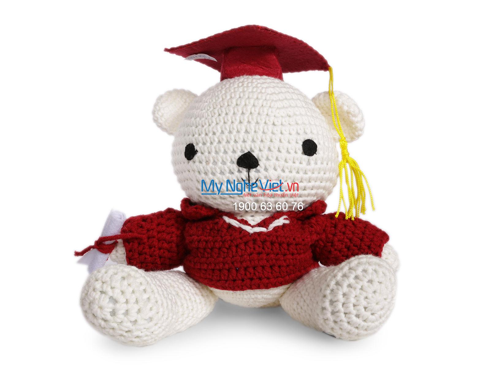 Gấu len tốt nghiệp QTN-GL01