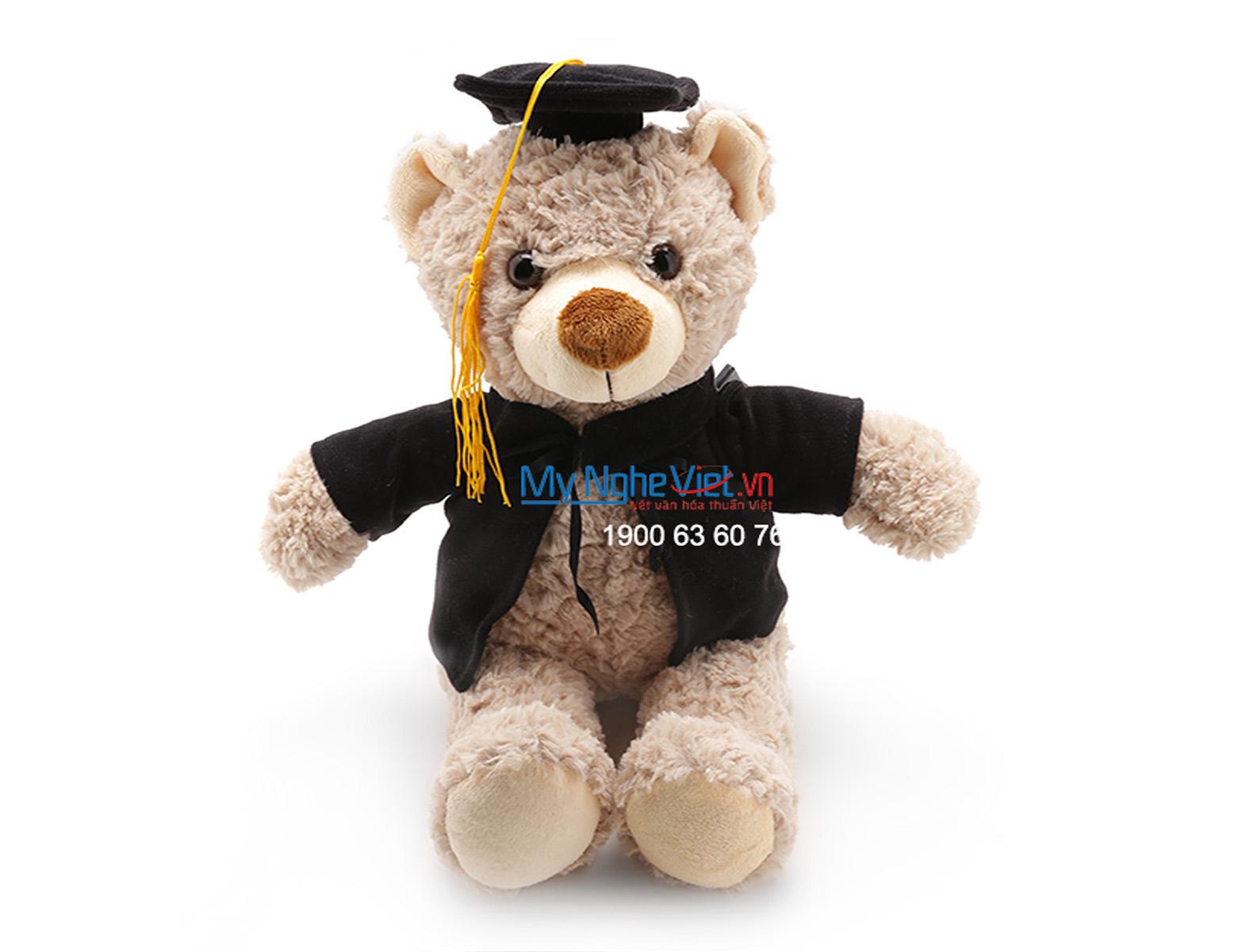 Gấu tốt nghiệp xám QTN-GBN01