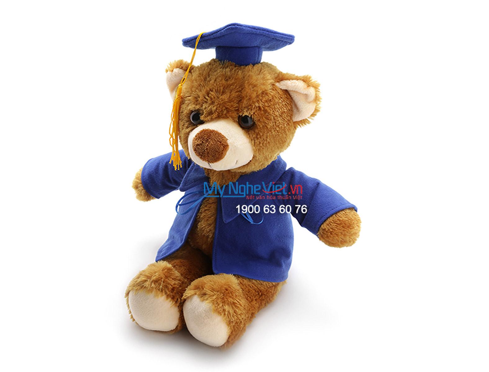 Gấu tốt nghiệp nâu QTN-GBN03