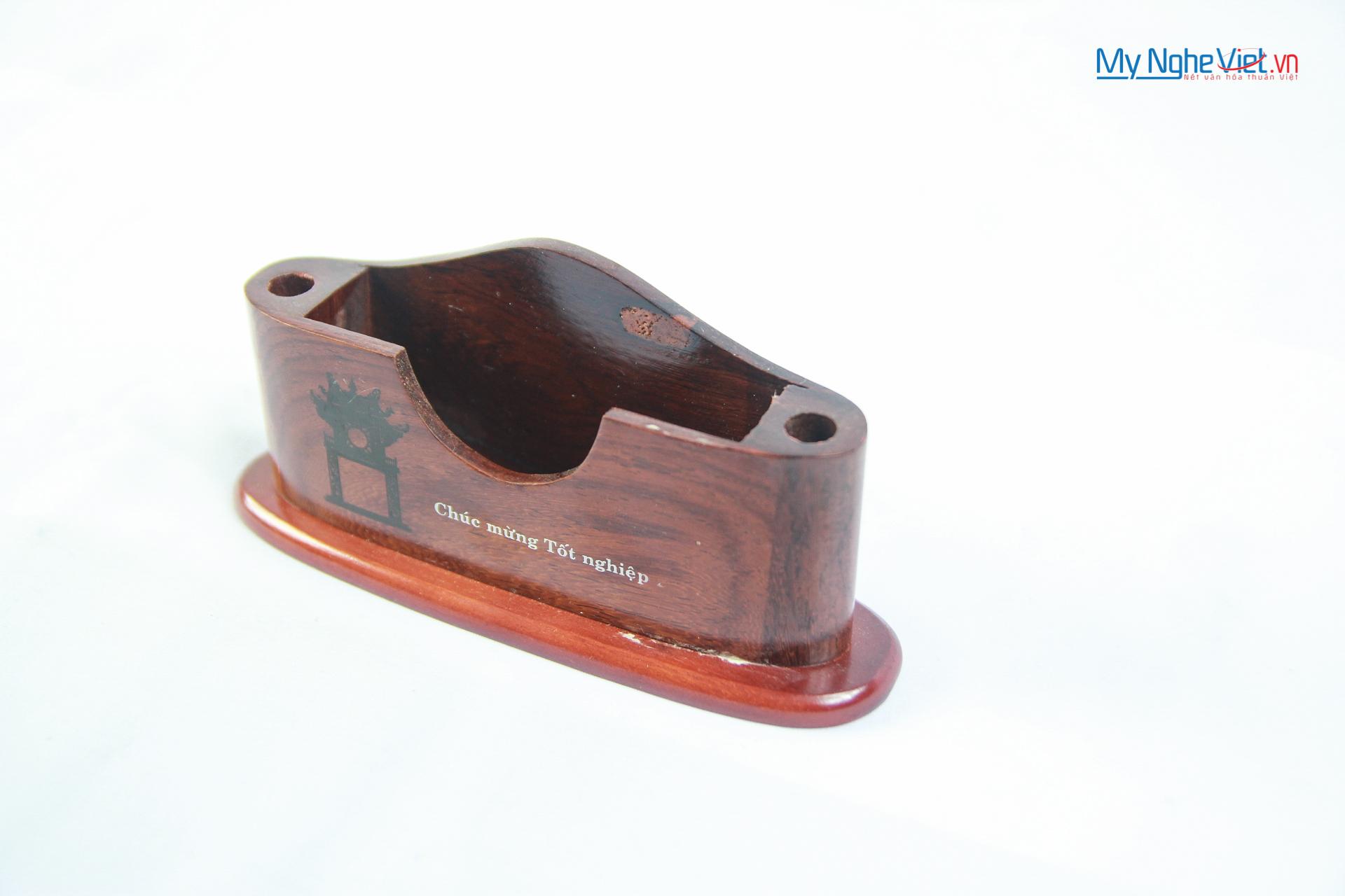 Hộp gỗ cắm bút và đựng namecard- QTN41/1